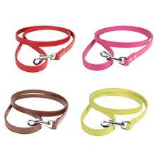 купить PU pet dog leash 16 colors 1.2M harness for dogs walking training leash anti lost pet supplies solid color leash strap belt дешево
