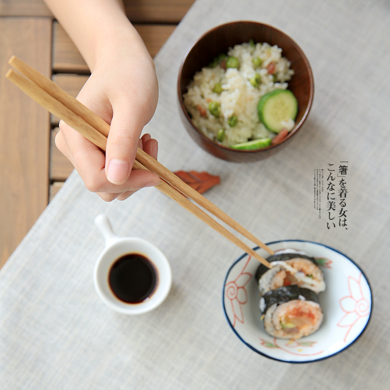 5 Pair Japan Style 5colors Natural Wooden Chopsticks Sushi Tableware - Kitchen, Dining and Bar - Photo 5