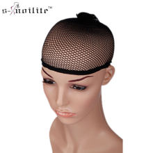 Snoilite 10pcs Hair Style Elastic Unisex wig Cap Stretch Weaving Mesh Net Fishnet Ladies Elastic Wig Caps black brown blonde(China)