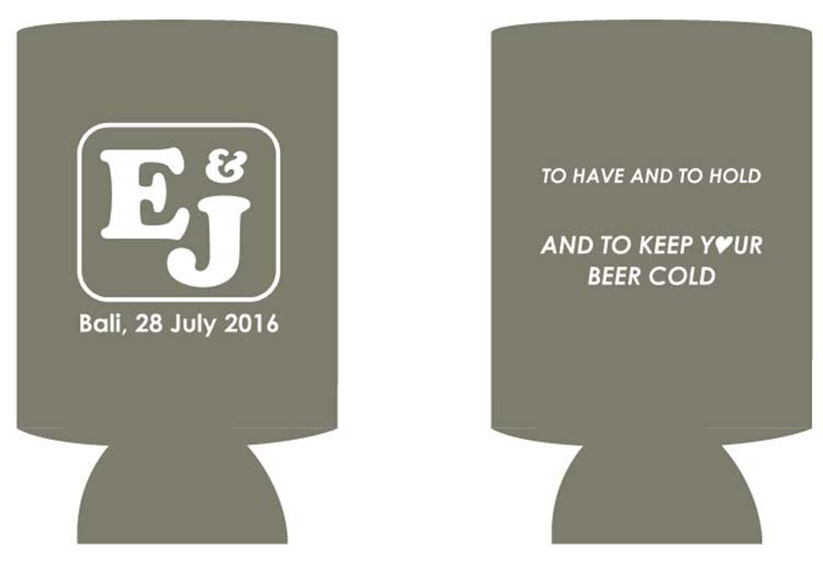 100pcs/lot Customized LOGO Stubby Holders Beer Can Coolers Holder As Wedding Gifts Insulated Neoprene Picnic Cooler Thermal Bag