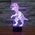 New Dinosaur Head 3D Night Light Building Lamp for Bedroom Living Room Interesting Animal Pattern 3D Table LED Novelty Lighting