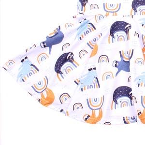 Image 3 - فستان هالوين 2019 قصير الاكمام للفتيات ، ملبوسات الاطفال ، الوان فاتحة ، خريف/شتاء ، فروكس الحليب والحرير ، فستان توريل للأطفال الصغار