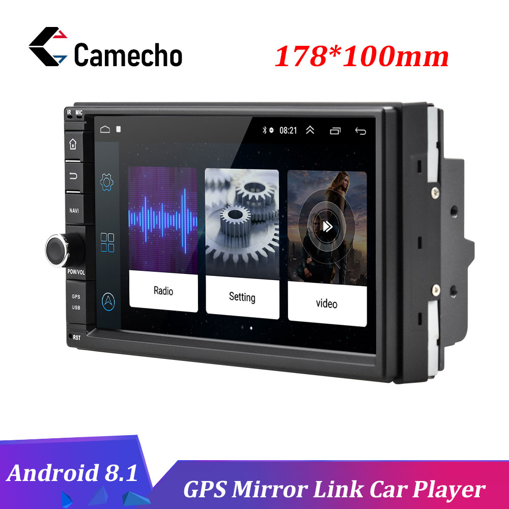 Camecho Android 8 1 Car Multimedia Player 2Din 7 HD Autoradio GPS Mirror Link WIFI Radio