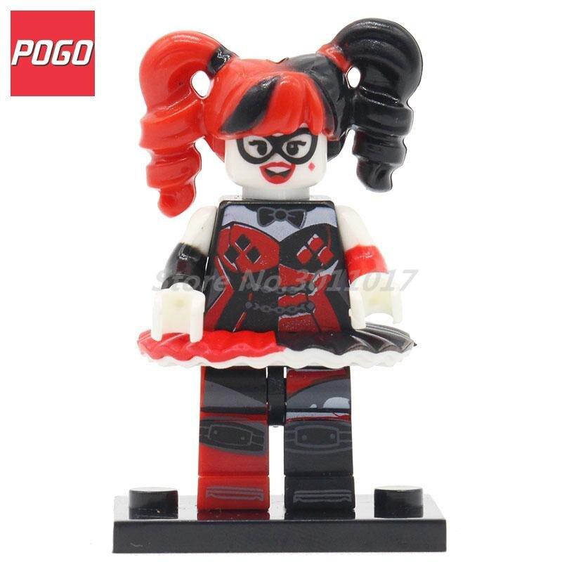 POGO Super Heroes Joker Harley Quinn Mini Dolls Building Model Set Brick Single Sale DIY Toys