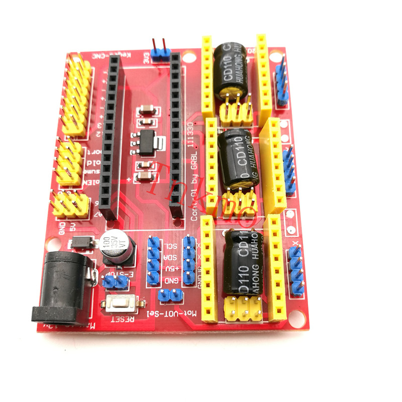 1PCS CNC Shield V4 Engraving Machine / 3D Printer / A4988 Driver Expansion Board for arduino Diy Kit stablizer shield free shipping 7 18v expansion board for arduino for secondary development w pwr indicator