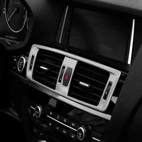 Abs Matte Stainless Steel Central Air Conditioning Outlet Car Accessories For BMW X3 X4 F25 F26