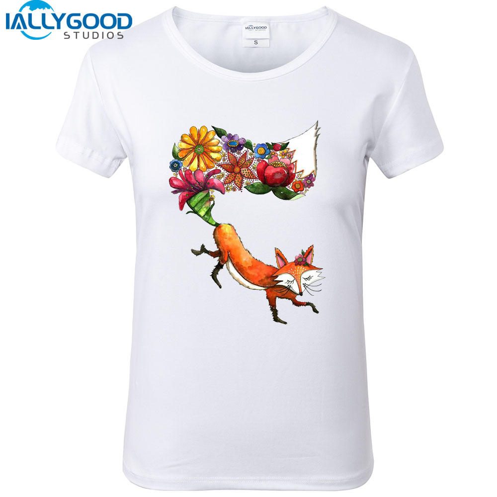 2017 new summer fashion animal animal design flower for T shirt design 2017
