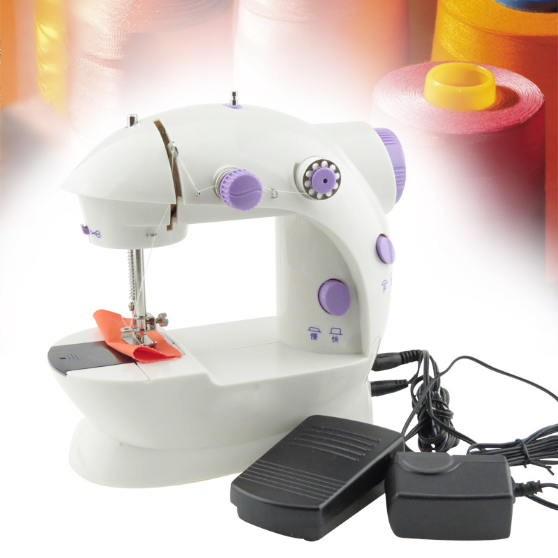 New Arrival Portable Mini Electric Sewing Machine Household Desktop Mini Electric Sewing Machine Household Desktop mini 12 stitches sewing machine household multifunction double thread and speed free arm crafting mending machine