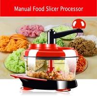 Multi funtion Manual Meat Grinder Vegetable Chopper Cutter Processor Chopper Garlic Cutter Vegetable Fruit Twist Shredder