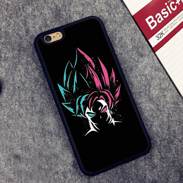 new styles ba274 914e1 US $4.11 5% OFF|MaiYaCa DRAGON BALL Z Super Saiyan God Son Goku Soft TPU  Skin Phone Cases For iPhone 6 6S Plus 7 8 Plus 5 5S SE X Back Cover-in  Fitted ...