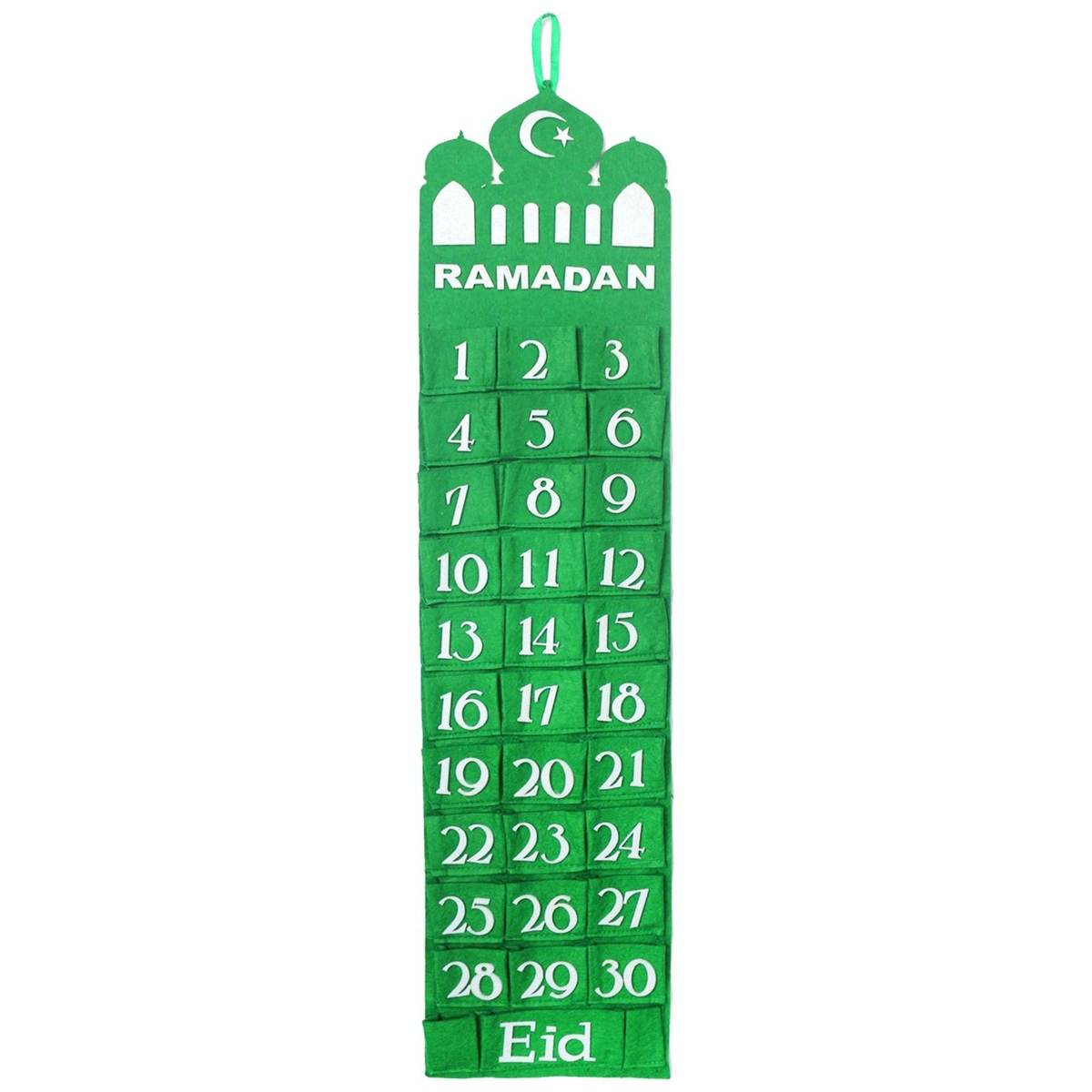 Happy EID Mubarak Decor Ramadan Kareem Calendar Table Runner Blue Black Glitter Gold Muslim Party EID Ramadan Festival Present