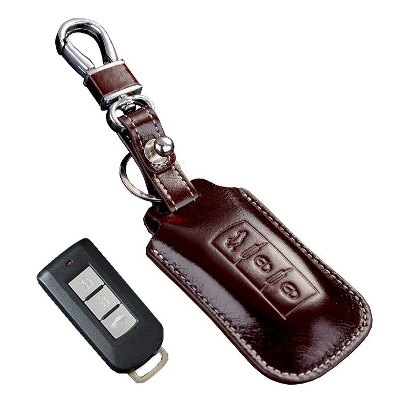 FOB key holder For Mitsubishi lancer EX outlander ASX pajero sport v3 Etc genuine Leather key cover key bag keyring accessories golden state of mind colourpop