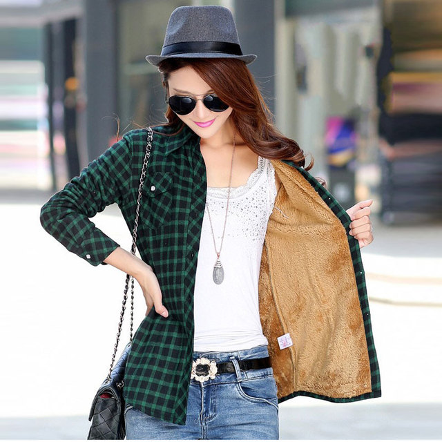e2ca719d30b New Camisa Cuadros Mujer Casual Plaid Shirt Women Turn-down Collar Woman  Shirts With Long