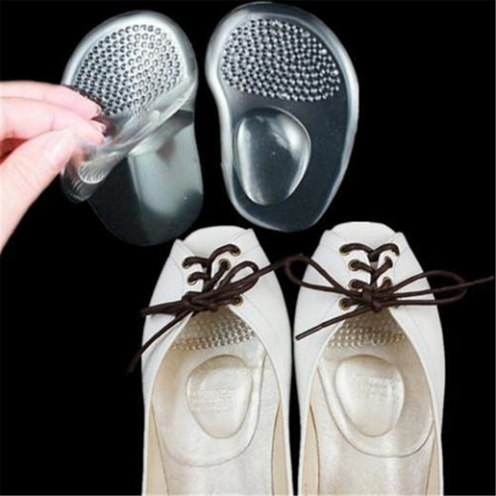 1 Pair Silicone High Heels Arch Support pad Flat Feet Arch Support Orthopedic Insoles Corrector for Shoes image