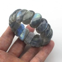 Natural Labradorite Stone Bracelet Natural Stone Bracelet DIY Jewelry For Woman For Gift Free Shipping Wholesale