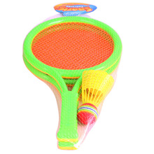 1Set Mini Dual Badminton Tennis Racket Indoor Outdoor Educational Baby Sports Game Gifts Toys For Children Novelty 2017