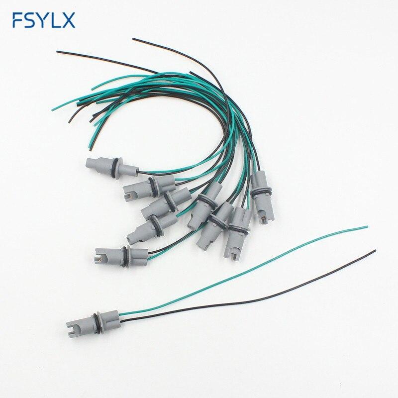 Fsylx 30cm T10 Led Bulb Holder Base Socket 501 T15 T13 W5w 194 168 High: Wiring Harness KIA Soyes Base At Satuska.co