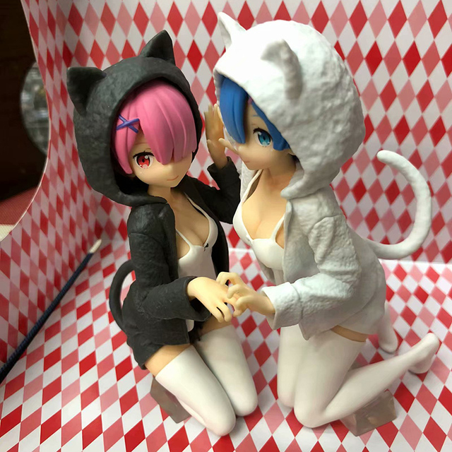Anime Re:Life In A Different World From Zero Action Figure 1/8 scale Nyanko Mode figure Toys no retail box (Chinese Version)
