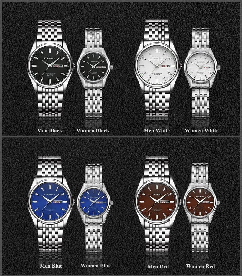 HTB1drk3p9tYBeNjSspaq6yOOFXa6 Kingnuos Brand New Design Business Man Watch Steel Waterproof Luminous Hour Date Week Clock Male Hodinky Quartz Men's Watch