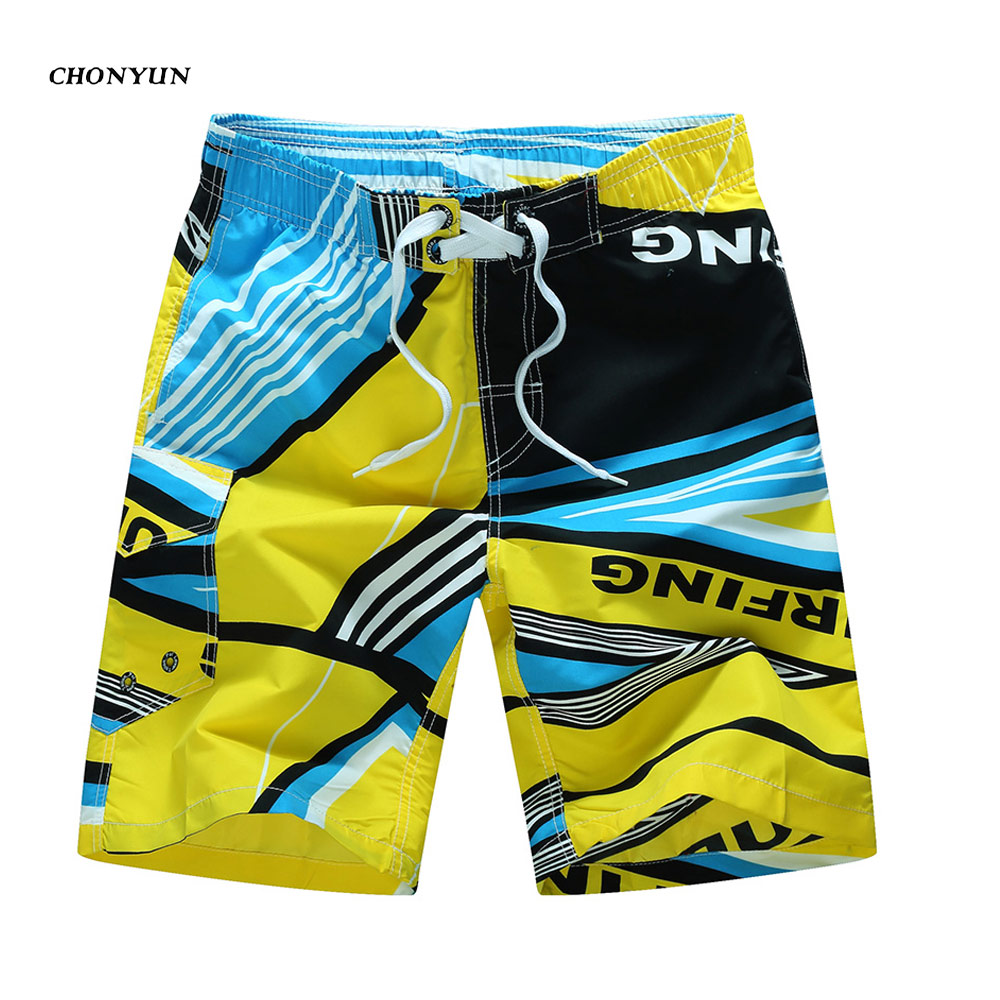 New Arrival Plus Size Swimwear Summer Men's Beach Shorts Quickly-Dry Board Shorts Outdoors Swim Trunks Bermuda Male Swimwear