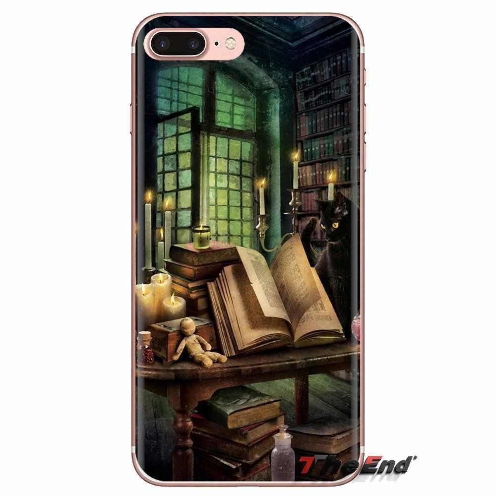 Biblioteka fantasy art książki art przezroczyste miękkie etui pokrowce do Xiaomi Redmi 4A S2 uwaga 3 3S 4 4X5 Plus 6 7 6A Pro Pocophone F1