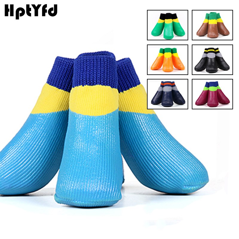 4pcs Majhne velike pasje nogavice Vodoodporne hišne nogavice Čevlji - Izdelki za hišne ljubljenčke