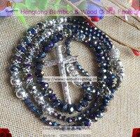 8mm Black Bead Rosary Shamballa Rhinestone Crystal Rosary Necklace Disco Ball Rosary Special Offer