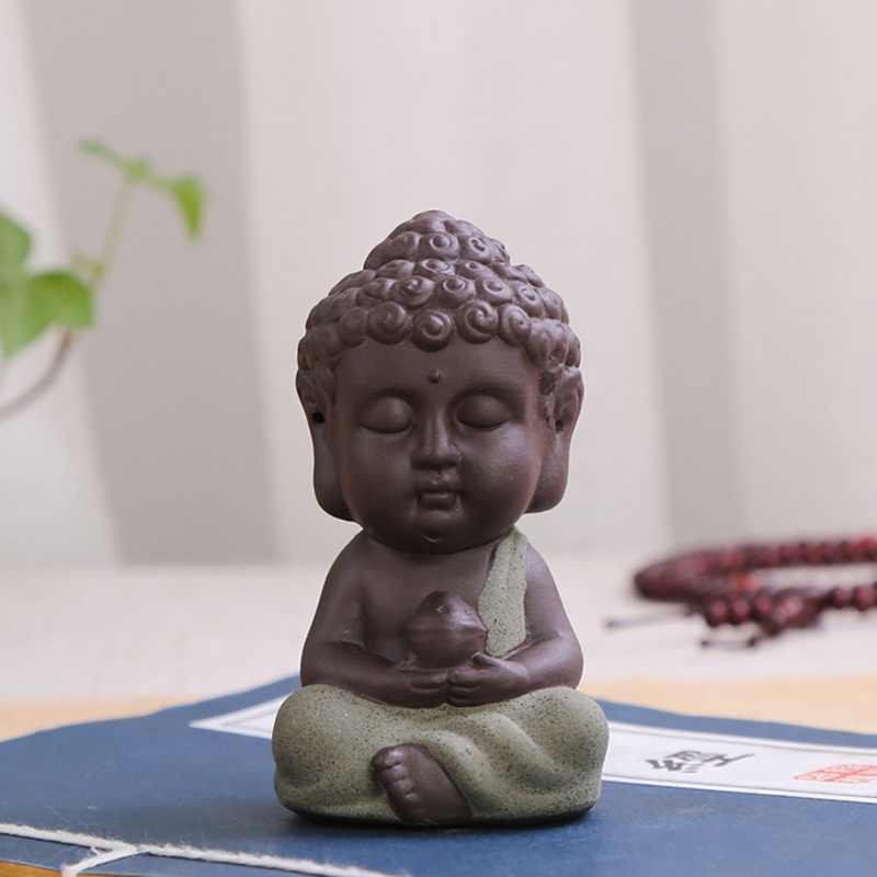 Буддизм Литл медитация монах маленькие статуи миниатюрное ремесло статуи Будды глина Мини Китайский дзэн-буддизм монахи
