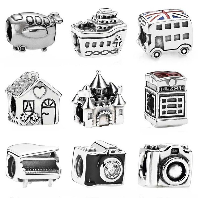 Vintage Aeroplane All Aboard Cruise Ship Camera Fairytale Castle Charm Fit  Pandora Bracelet 925 Sterling Silver Bead Jewelry-in Beads from Jewelry ... c0af838bff17