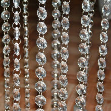 Фотография Free shipping !!33 FT/14mm Crystal Clear Acrylic Bead Garland Chandelier Hanging Wedding Decoration