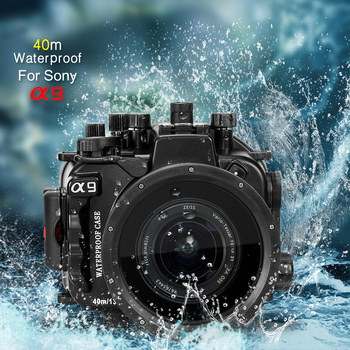 Mcoplus 40m/130ft Waterproof Underwater Camera Housing Case for Alpha A9 camera