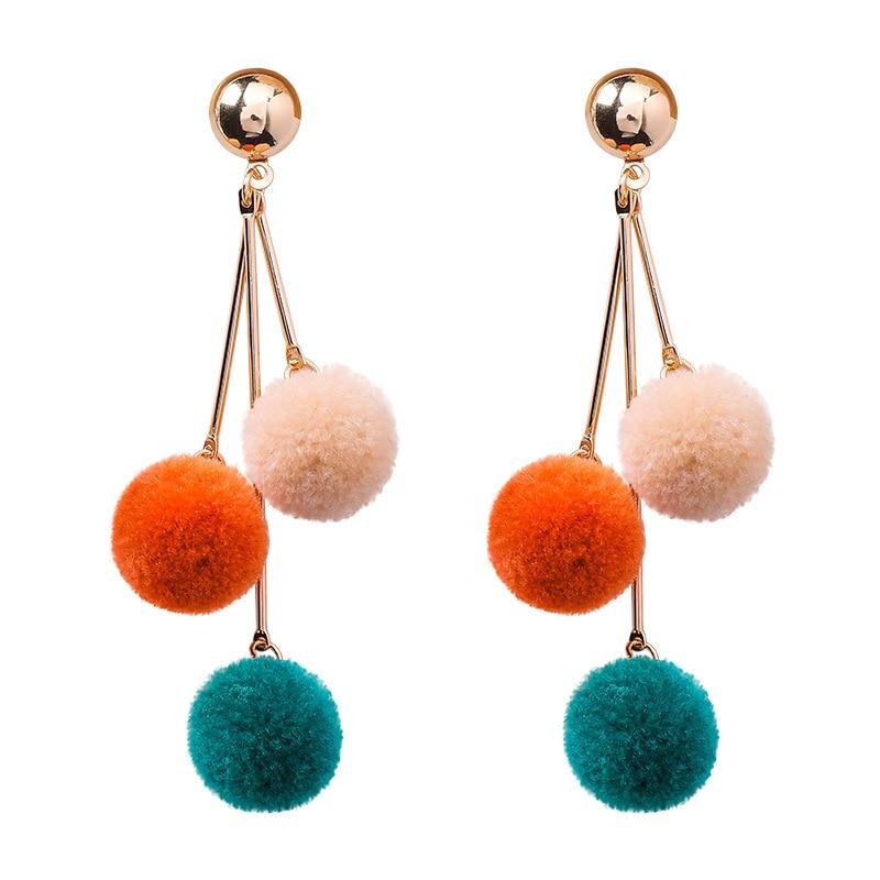 Jujia Maxi Handgemachte Pom Pom Ohrringe Mode Frauen Vintage Aussage Ohrringe Crisana Hoop Ohrringe Brincos Schmuck & Zubehör