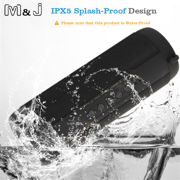 M&J T2 Outdoor Waterproof Super Bass Bluetooth Speaker Mini Portable Wireless Column Loudspeakers Speakers for iPhone Samsung