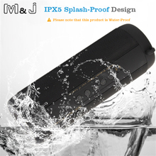 M J T2 Outdoor Waterproof Super Bass Bluetooth Speaker Mini Portable Wireless Column Loudspeakers Speakers for
