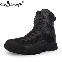 Outdoor Sport Army Men S Tactical Boots CP Camo Male Combat Shoes Military Leather Boots Shoes