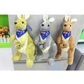 25 cm Precioso canguro Madre y niño de Algodón PP juguetes de peluche muñeca de los niños regalo de cumpleaños