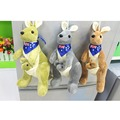 25cm Lovely Mother and child PP Cotton kangaroo plush toys doll children's birthday gift