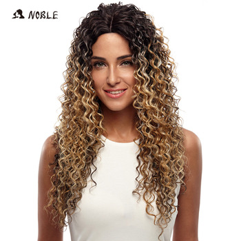Noble Wigs For Black Women Deep Wave Lace Front Wigs Synthetic Hair 26 Inch Ombre Color Heat Resistant Cosplay Wig Free Shipping 180% density heat resistant fiber syntehtilace lace front wig body wave black hair synthetic wigs for black women free shipping