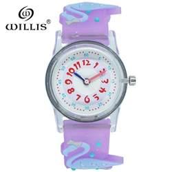 Уиллис бренд силиконовые студенческие часы для девочек часы Мода Фламинго детские наручные часы мультфильм дети кварцевые часы relogio feminino
