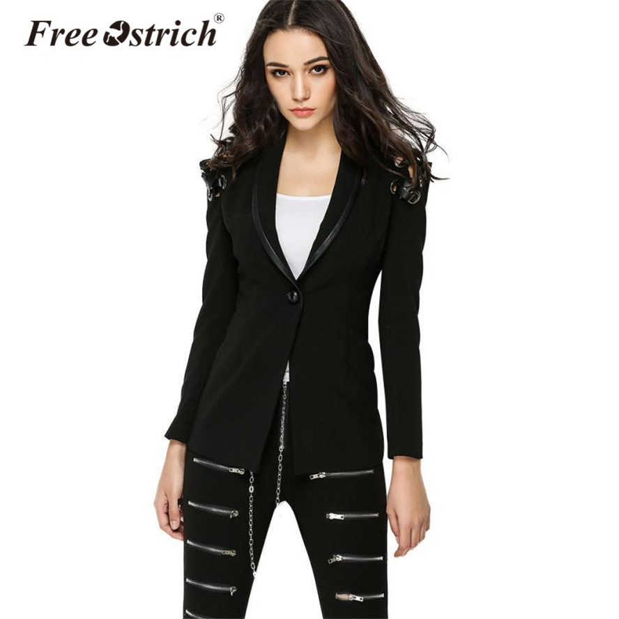 FREE OSTRICH 2018 Jackets Blazer Women Casual Long Sleeve A Button Tied Backless Hollow Out Bandage Jaqueta Feminina Oct9