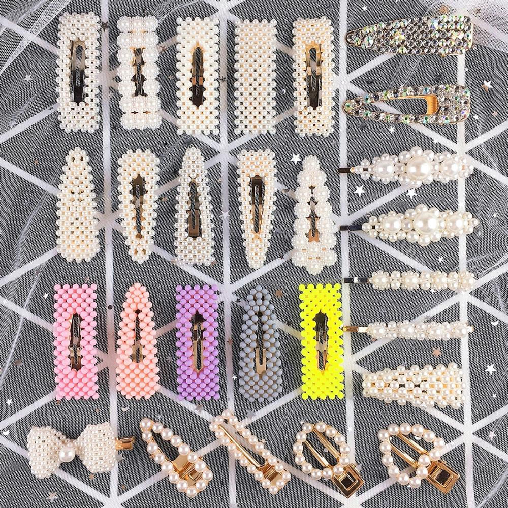 1Set 35 Styles Pearl Combination Hair Clips For Women Hair Styling Accessories BB Clip Girl Fashion Hairpin Hair Accessories