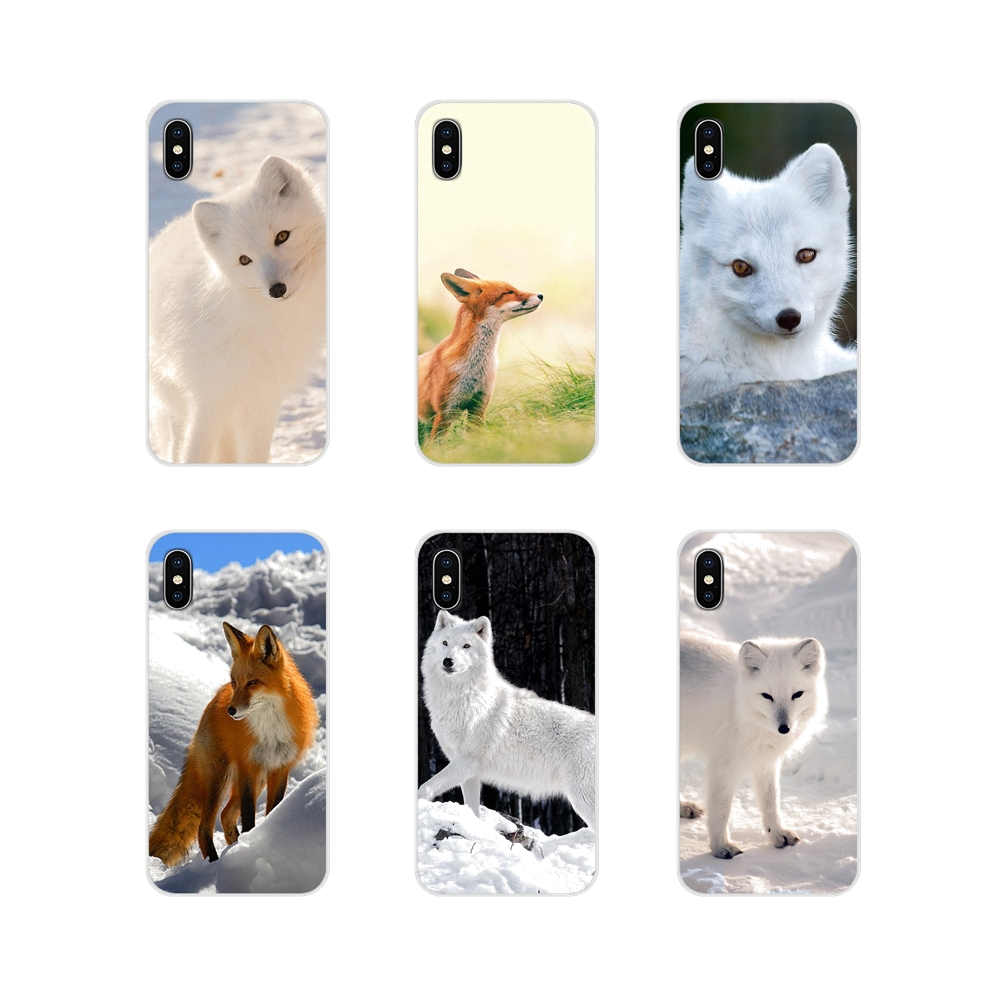 For Huawei Mate Honor 4C 5C 5X 6X 7 7A 7C 8 9 10 8C 8X 20 Lite Pro Accessories Phone Cases Covers fox white red animal cute image