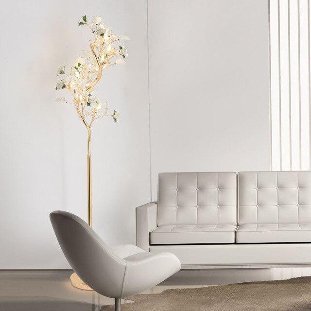 Bedroom Floor Lights Crystal Floor Lamps Wedding Decoration Sitting ...