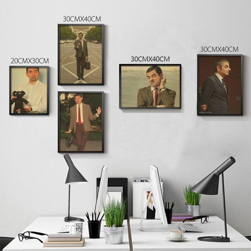 Голливуд старые фотографии Mr. bean Винтаж плакат украшения Ретро Плакаты Домашний Декор Книги по искусству картина стены Стикеры росписи