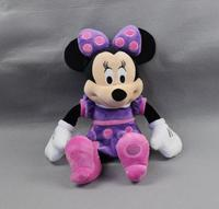Original Minnie Mouse Purple Color Stuffed Animals 45cm 17inch Cute Mickey Girlfriend Baby Girls Toys For