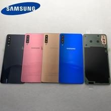 Original pour Samsung Galaxy A7 2018 couvercle de batterie arrière A750 boîtier A750F SM A750 boîtier de porte arrière panneau de verre pièces de rechange