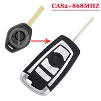 (1PCS) 3 button 434MHZ folding flip remote key fob for BMW 3 5 6 series E93 E60 Z4 X5 X3 CAS2 HU92  BLADE Burglar Alarm    -