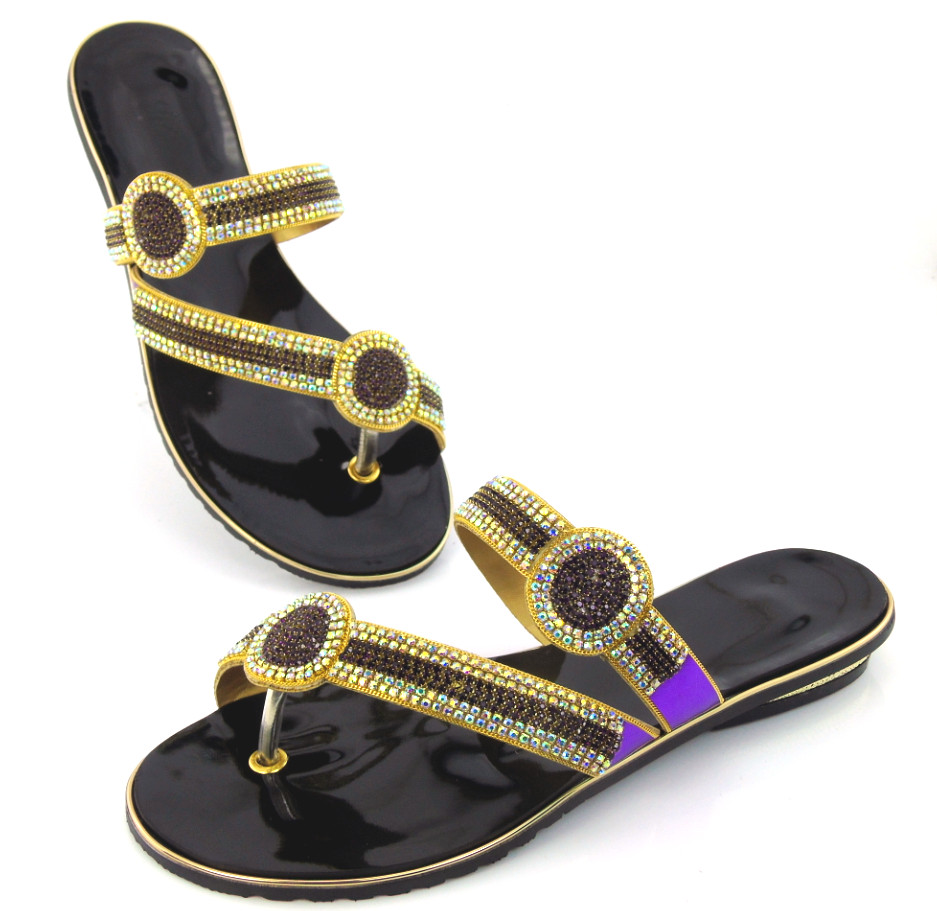 doershow Women Flat Heel Flip Flop Sandals Casual Ladies Rhinestones  Sandals Summer Style Shoes African Style!!!DD1 102-in Women s Pumps from  Shoes on ... 1cfa9dfef128