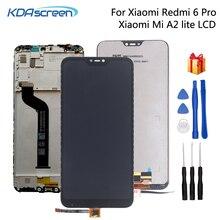Orijinal Xiao mi kırmızı mi 6 Pro lcd Ekran dokunmatik ekran digitizer onarım parçaları Için Xiao mi mi A2 Lite ekran lcd EKRAN araçları