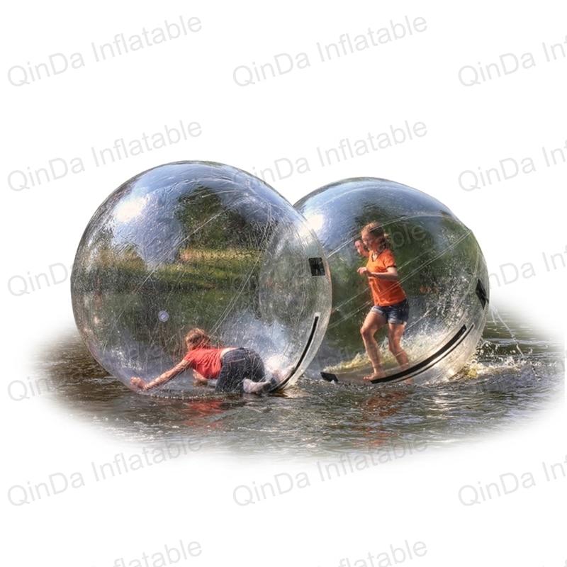1.8m Diameter Water Walking Ball Toy Balls Blue Inflatable Human Hamster Ball Zorb Ball